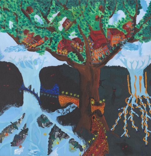 Strom s mestom